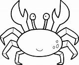 Coloring Crabs Crab Pages Prints Again Bar Looking Case Don sketch template