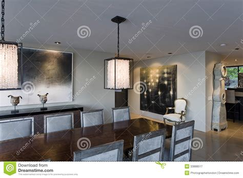 Modern Dining Room Stock Image Image Of Room Painting