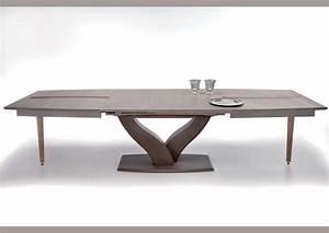 Pied Table Central : table ronde moderne pied central table verre et bois ~ Edinachiropracticcenter.com Idées de Décoration
