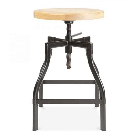 turner industrial swivel stool in black 45cm bar stools