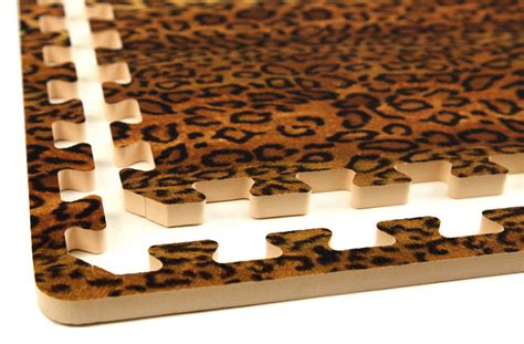 funky animal print tiles interlocking desginer foam tiles