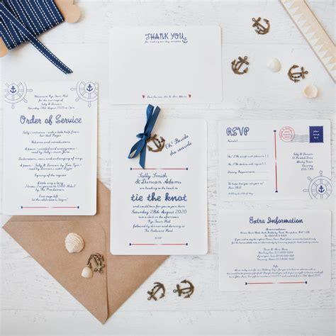 nautical diy wedding invitation pack by wedding in a