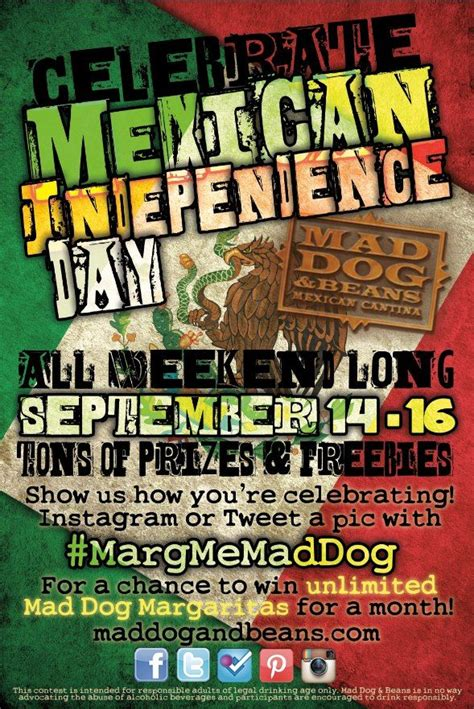 Mexican Independence Day Celebration at Mad Dog & Beans ...