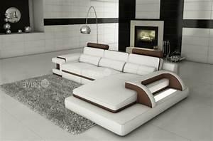 canape d39angle en cuir italien 6 places vinoti blanc et With tapis chambre enfant avec canapé confort luxe cuir