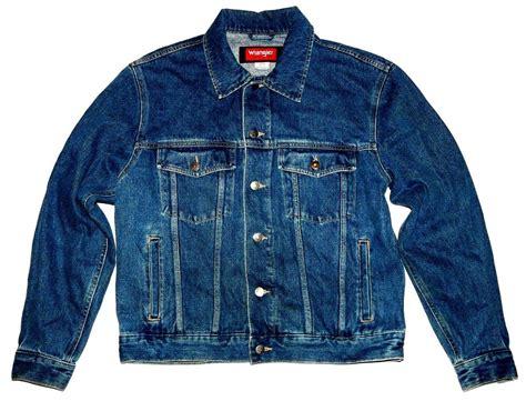 Wrangler Hero Blue Jean Jacket Mens Medium Long Sleeve