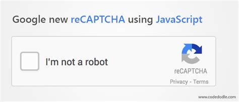 google new recaptcha using javascript