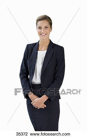 Stock Photo Of Cut Out Of Young Female Executive 35372