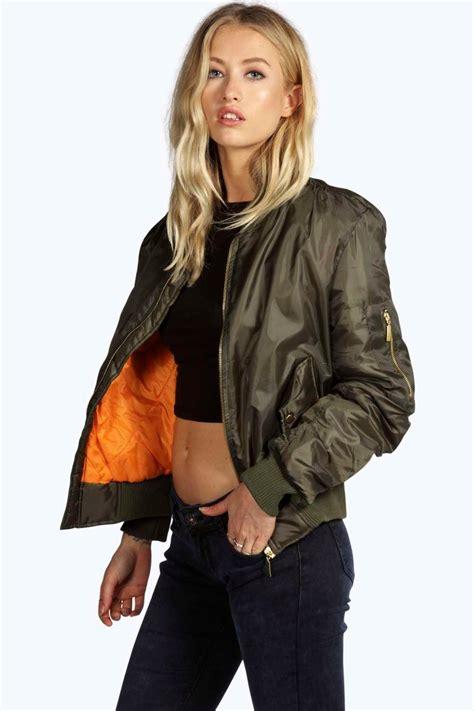 jaket bomber list l boohoo womens lillie ma1 bomber jacket ebay