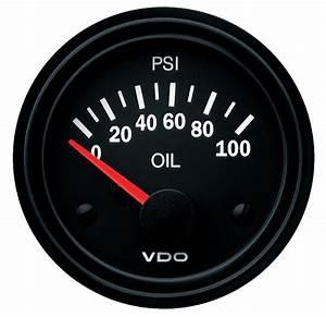 Vdo Electrical Oil Pressure Gauge 0