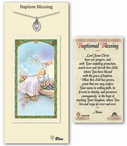 Baptism Prayer Blessing Card Medal Pendant Catholic