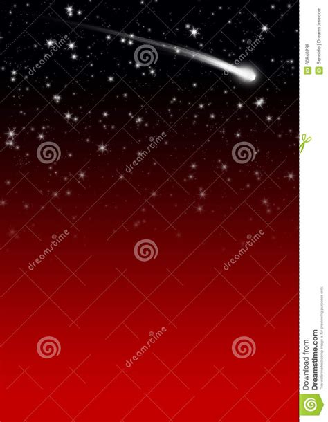 simple red starry night sky background  falling star