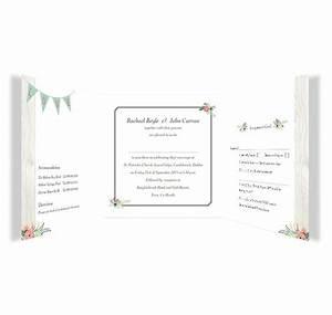 rustic romance tri fold wedding invitation rsvp loving With folded wedding invitations with rsvp