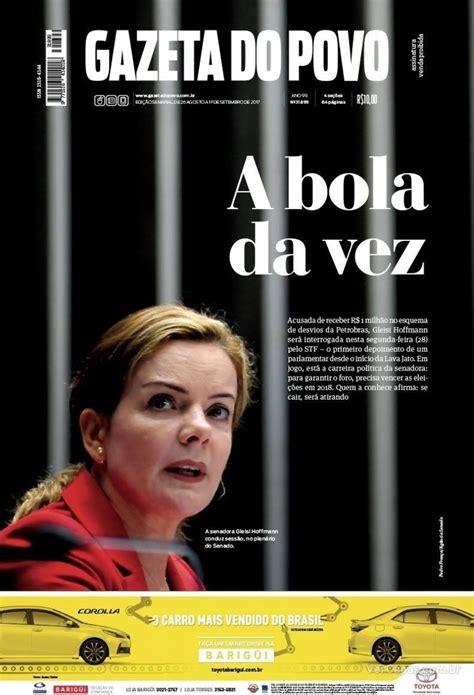 Capa Gazeta do Povo Edição Sábado,26 de Agosto de 2017