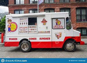 Ice Cream Truck In Brooklyn, New York Editorial Photo - Image of service, best: 182101161