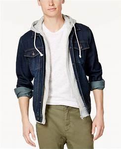 American Rag Men39s Hooded Denim Jacket Created For Macy39s