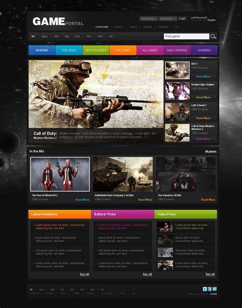 gaming website template joomla template 27834