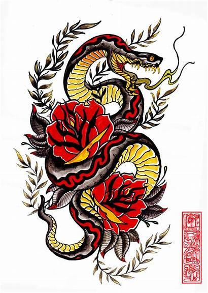 Snake Japanese Drawing Tattoos Clipartmag