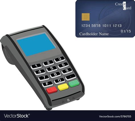 credit card reader vector image  vectorstock