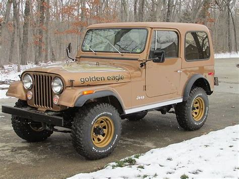 jeep eagle for sale sell used 1980 jeep cj7 golden eagle in sunrise beach
