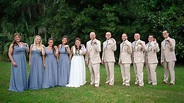 Bridal party wears bandages after bride forced to wear ...