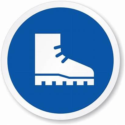 Foot Protection Wear Simbol Sepatu Laboratorium Boot