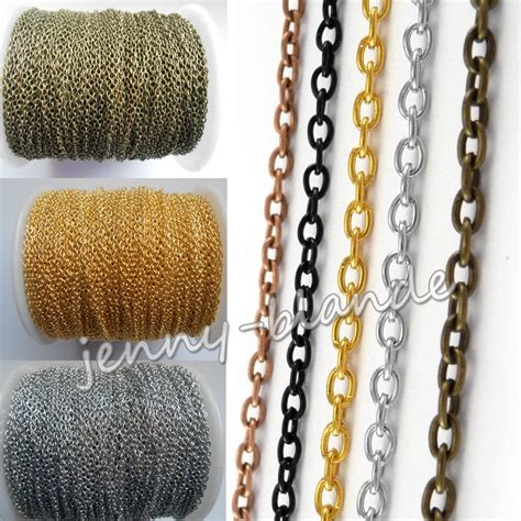 hot   silver gold bronze cable open link iron metal chain making decorate ebay