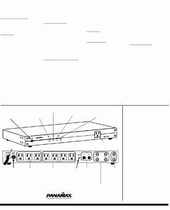 Panamax Surge Protector Max4310 User Guide