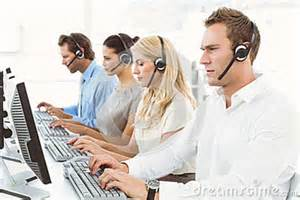 Business People Using Computers
