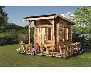 Spielhaus Weka Mecki Holz Mit Veranda Natur Bei HORNBACH