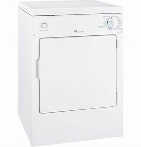 Ge Spacemaker U00ae 120v 3 6 Cu  Ft  Capacity Portable Electric Dryer