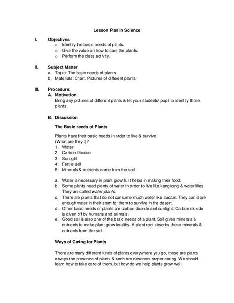 lesson plan in science by emilyn ragasa