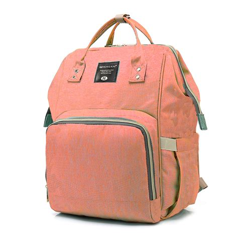 baby bag multi function travel backpack baby nappy changing bags orange pink