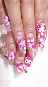 Black hello kitty nail art images