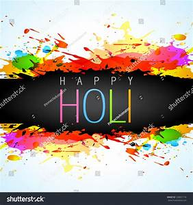 Colorful Holi Festival Vector Background Stock Vector ...