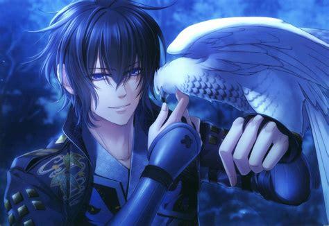 Blue Haired Anime Boy Wallpaper - wallpaper birds blue anime boys hawks eagle