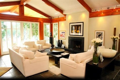 lavish living room designs  vaulted ceilings