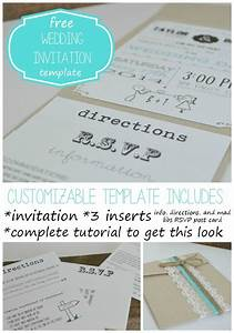 free wedding invitation template with inserts weddi on With free printable wedding invitations inserts