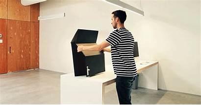 Desk Standing Cardboard Stand Sit Desks Cheap