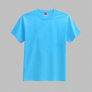Plain Light Blue Colored Round Neck Tshirt • T-Shirt ...