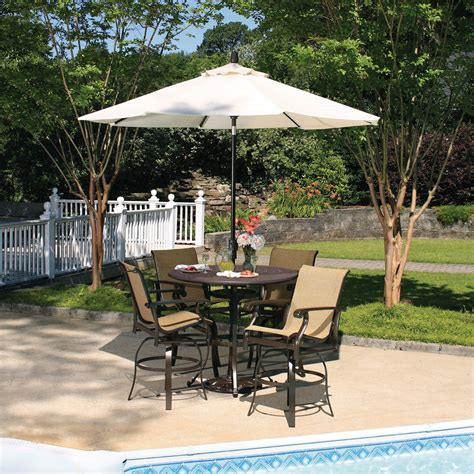 tall patio table set bar height patio table to decorate your outdoor space