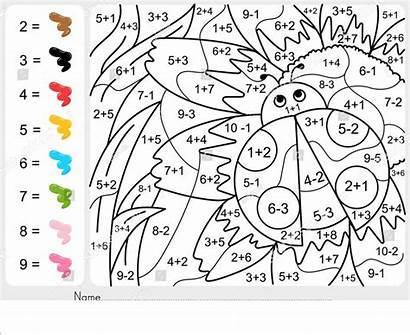 Subtraction Addition Coloring Worksheets Pdf Worksheet Printable