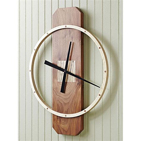 big time wall clock woodworking plan  wood magazine