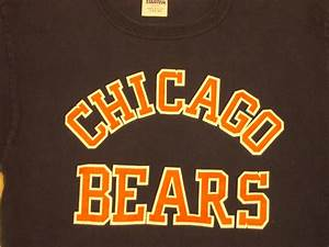 Chicago bears nfl classic blue t shirt starter brand for Chicago shirt and lettering