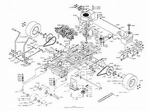 Dixon Ztr 428  1991  Parts Diagram For Chassis Assembly