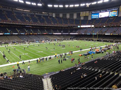 Stadium, arena & sports venue in new orleans, louisiana. Seat View from Section 231 at the Mercedes-Benz Superdome | New Orleans Saints