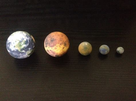 Earth, Venus, Mars, Mercury & The Moon Globes To Scale By