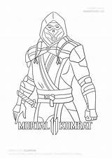 Draw Scorpion Mortal Kombat Coloring Step Pages Zero Sub Easy Characters Mk11 Fan Tutorial Forget Watching Subscribe Thank Comment Don sketch template