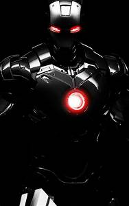Iron Man Black Armour Android Wallpaper free download