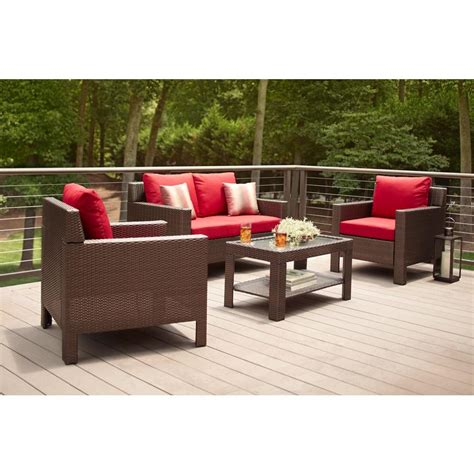 hton bay beverly 4 piece patio deep seating set with