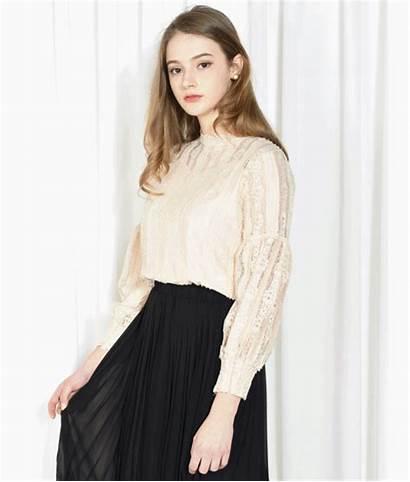 Tops Lace Romantic Blouse Quick